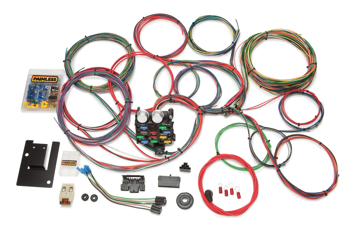 Painless Wiring 20107 Car Wiring Harness, Classic Tri-Five Chevy, Complete, 21 Circuit, Chevy Fullsize Car 1955-57, Kit
