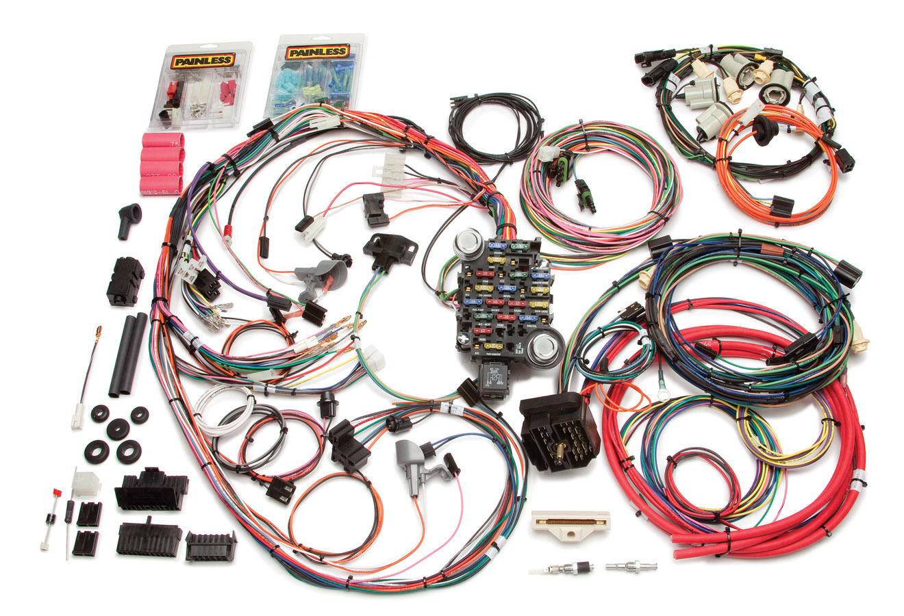 Painless Wiring 20113 Car Wiring Harness, Direct Fit, Complete, 26 Circuit, Chevy Camaro 1974-77, Kit