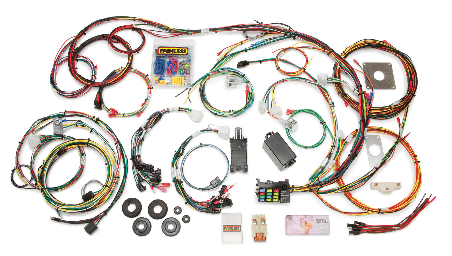 Painless Wiring 20120 Car Wiring Harness, Direct Fit, Complete, 22 Circuit, Ford Mustang 1965-66, Kit