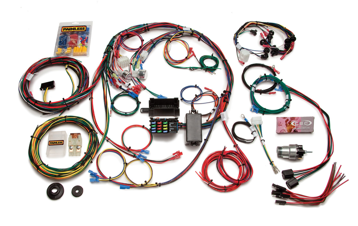 Painless Wiring 20121 Car Wiring Harness, Direct Fit, Complete, 22 Circuit, Ford Mustang 1967-68, Kit