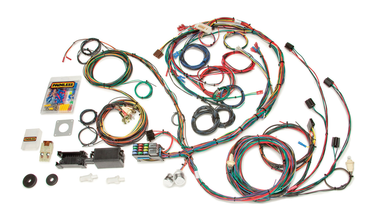 Painless Wiring 20122 Car Wiring Harness, Direct Fit, Complete, 22 Circuit, Ford Mustang 1969-70, Kit