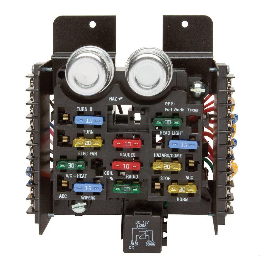 Painless Wiring 30001 Fuse Block, 14 Circuit, Flashers / Fuses / Relay, Universal, Kit