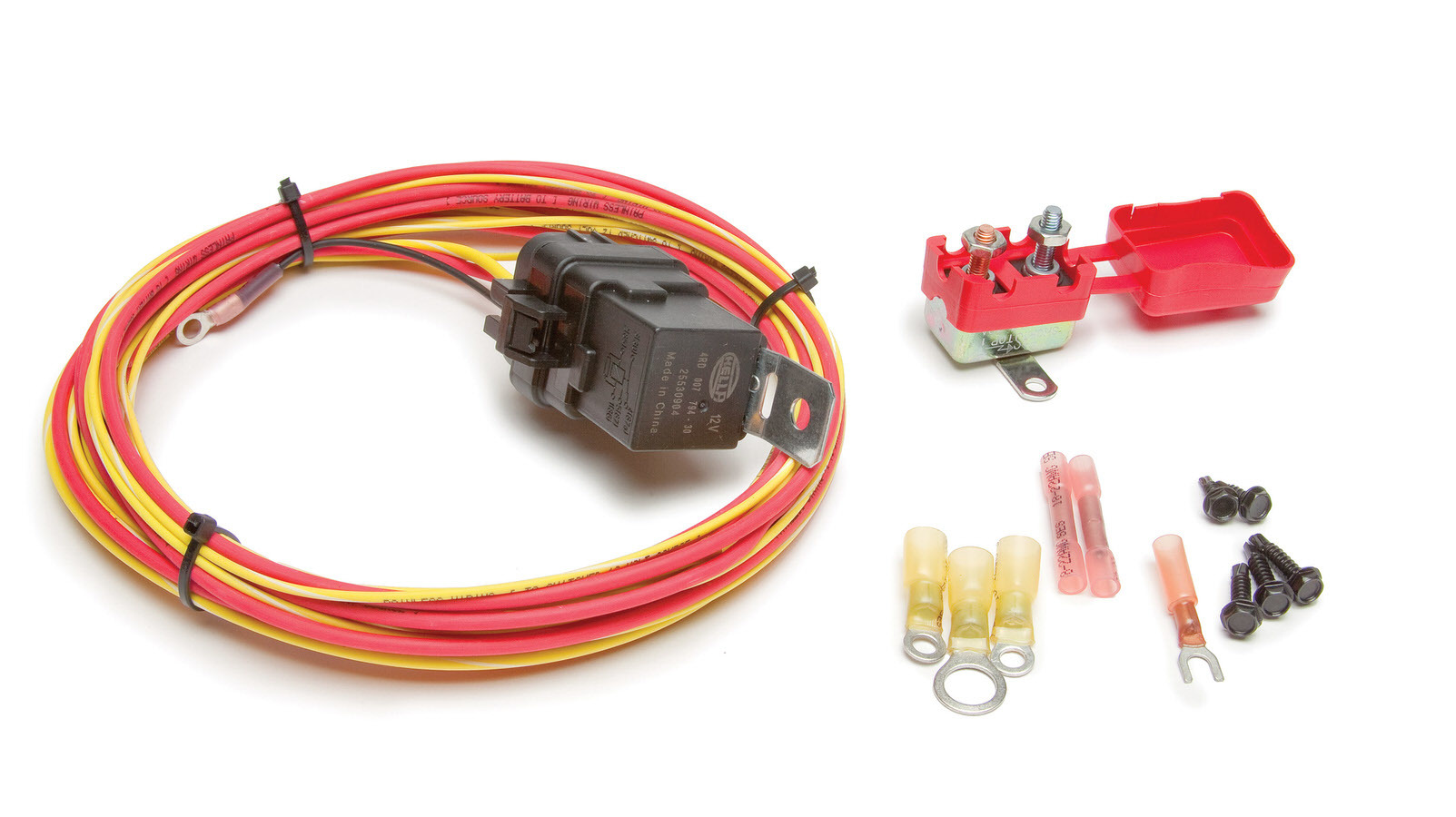 Painless Wiring 30131 Relay Switch, Weatherproof, Double Pole, 30 amp, 12V, Wiring Pigtail Included, Fuel Pump, Kit