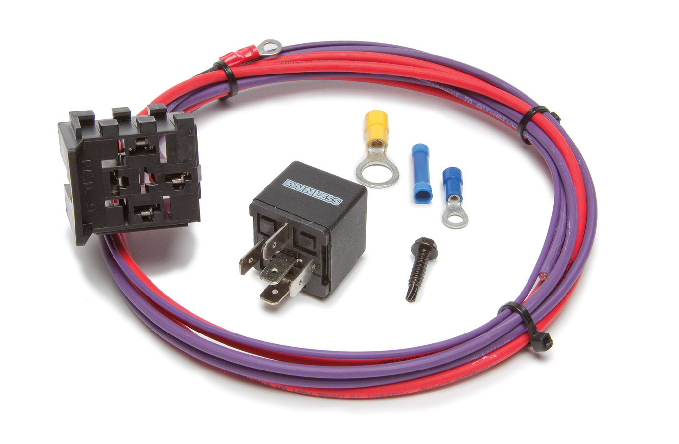 Painless Wiring 30202 Starter Relay, Hot Shot, 30 amp, 12V, Wiring Pigtail Included, Amperage Boost, Universal, Kit