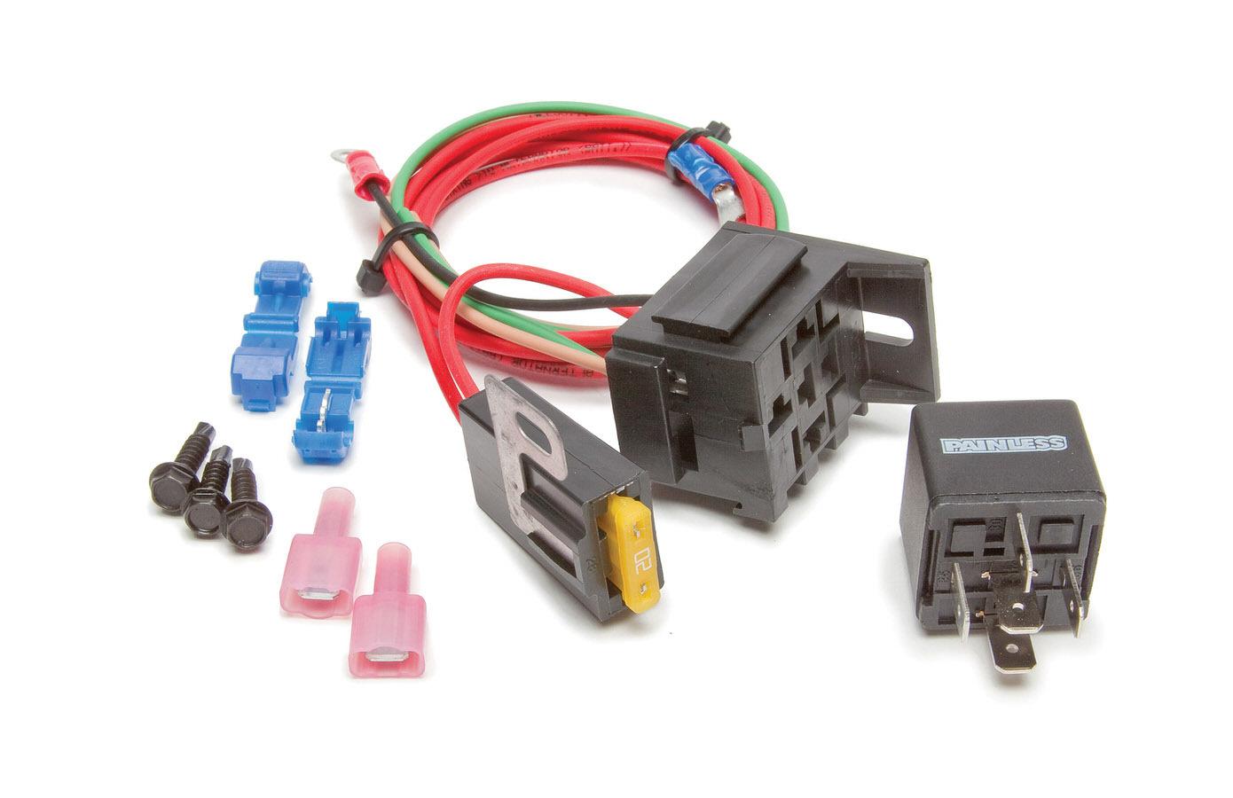 Painless Wiring 30802 High Beam Relay, Relay / Terminals / Wiring, GM Fullsize SUV / Truck 1988-98, Kit