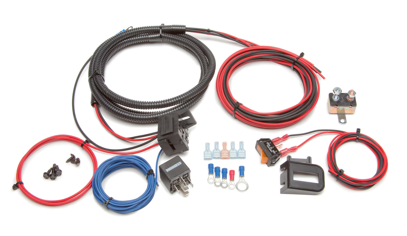 Painless Wiring 30803 Auxiliary Light Wiring, 30 amp Relay, Fuse / Switch / Wiring Pigtail Included, Universal, Kit