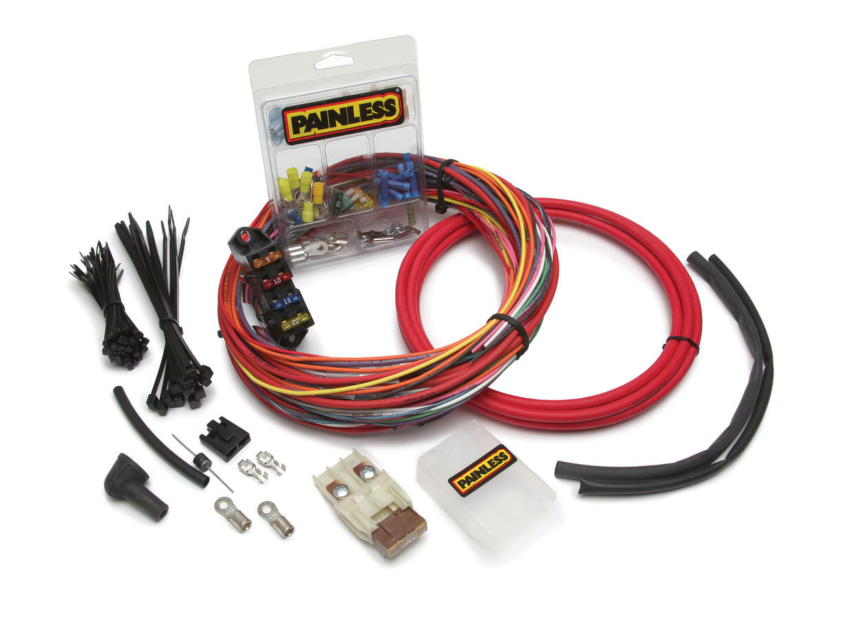 Painless Wiring 30830 Charging System Harness, Fuse Block / Maxi Fuse / Wiring, Carbureted Engines, Kit