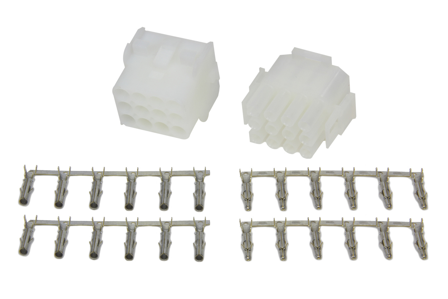 Painless Wiring 40011 Wire Terminal, Quick Disconnect, Female / Male, 12 Wire, Plastic, Natural, 20-14 Gauge Wire, Kit