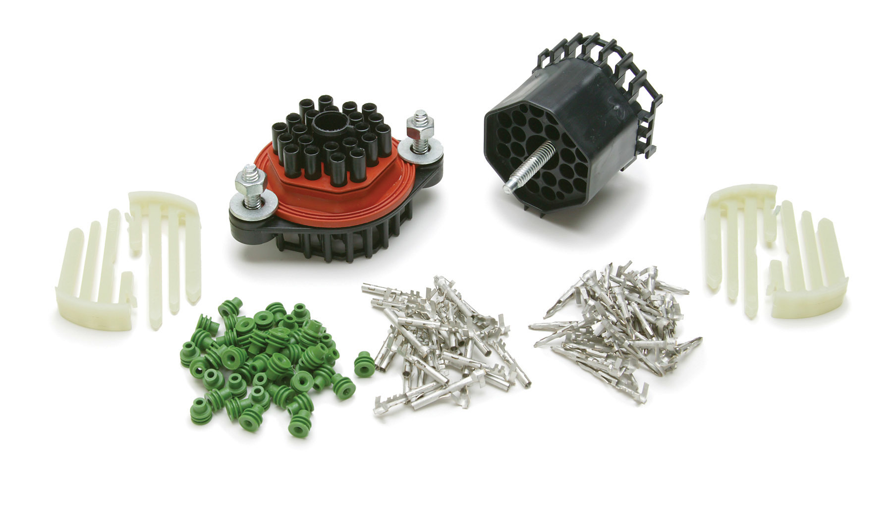Painless Wiring 40130 Wire Bulkhead, Connector Style, Waterproof, 22 Pin, Terminals / Connectors Included, Universal, Kit