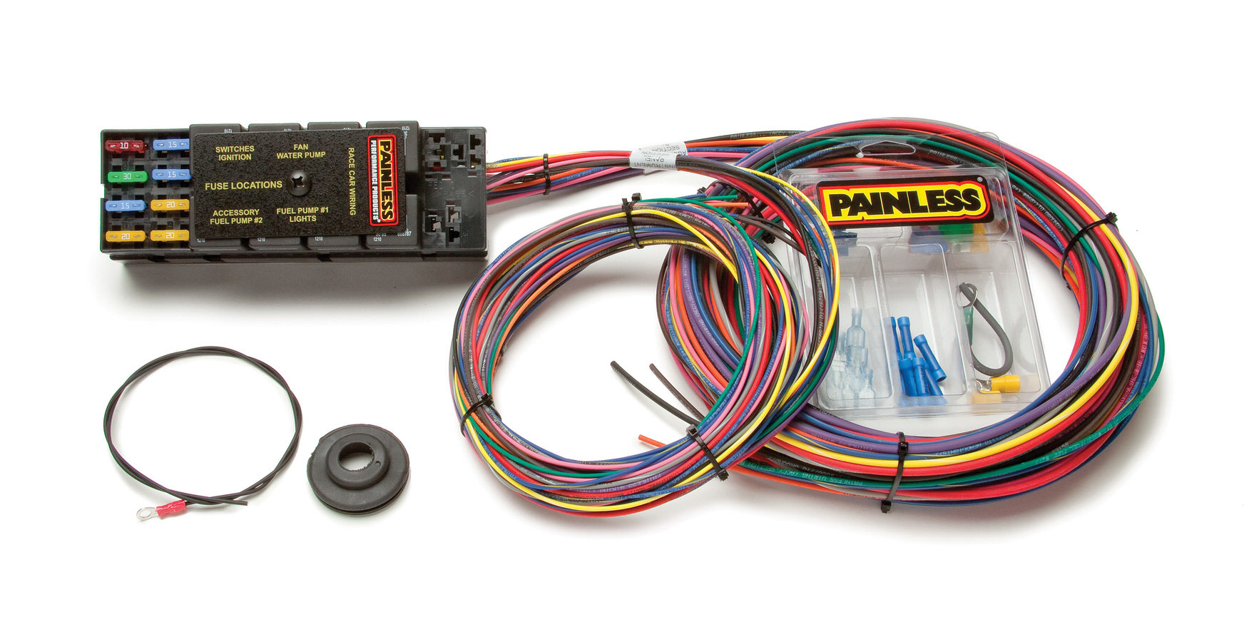 Painless Wiring 50001 Car Wiring Harness, Race Car Only, Com