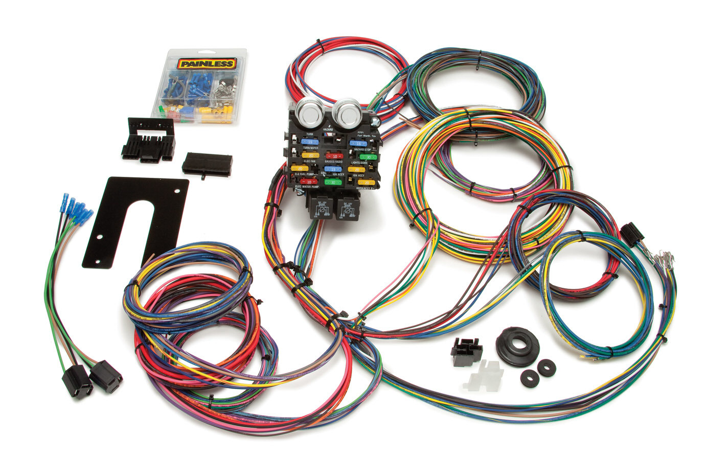 Painless Wiring 50002 Car Wiring Harness, Pro Street, Complete, 21 Circuit, Universal, Kit