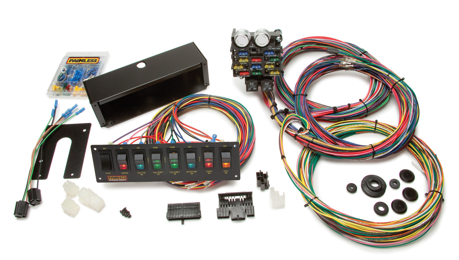 Painless Wiring 50003 Car Wiring Harness, Pro Street, Complete, 21 Circuit, Switch Panel, Universal, Kit