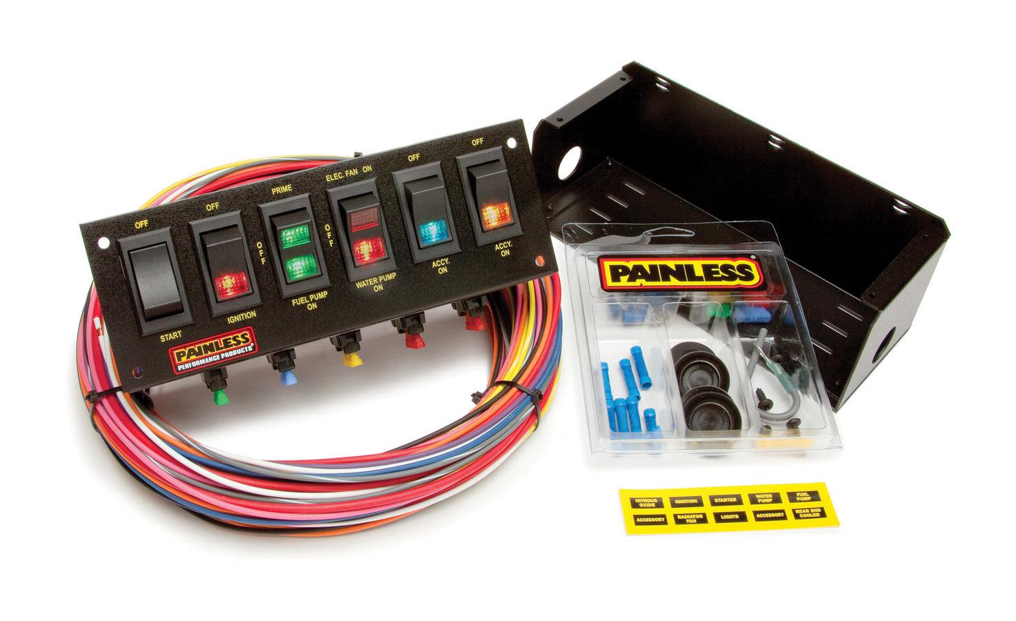 6 Switch Panel W/Harness
