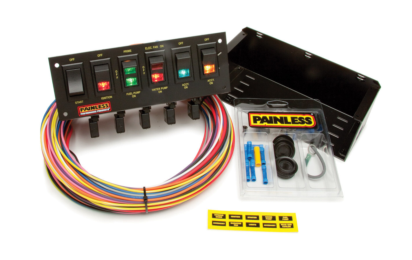6 Switch Rocker Circuit Breaker Panel