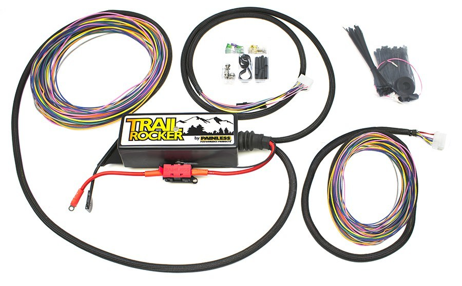 Painless Wiring 57005 Accessory Wiring Harness, Mounting Hardware / Fuse Block Included, Jeep Wrangler 2007-18, Kit