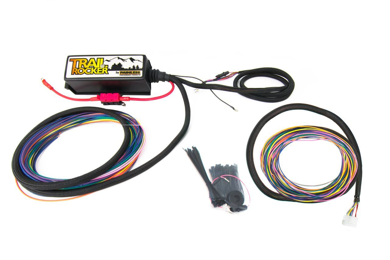 Painless Wiring 57042 Accessory Wiring Harness, Trail Rocker, Fuse Block / Mounting Hardware, Jeep Wrangler TJ 1979-2006, Kit
