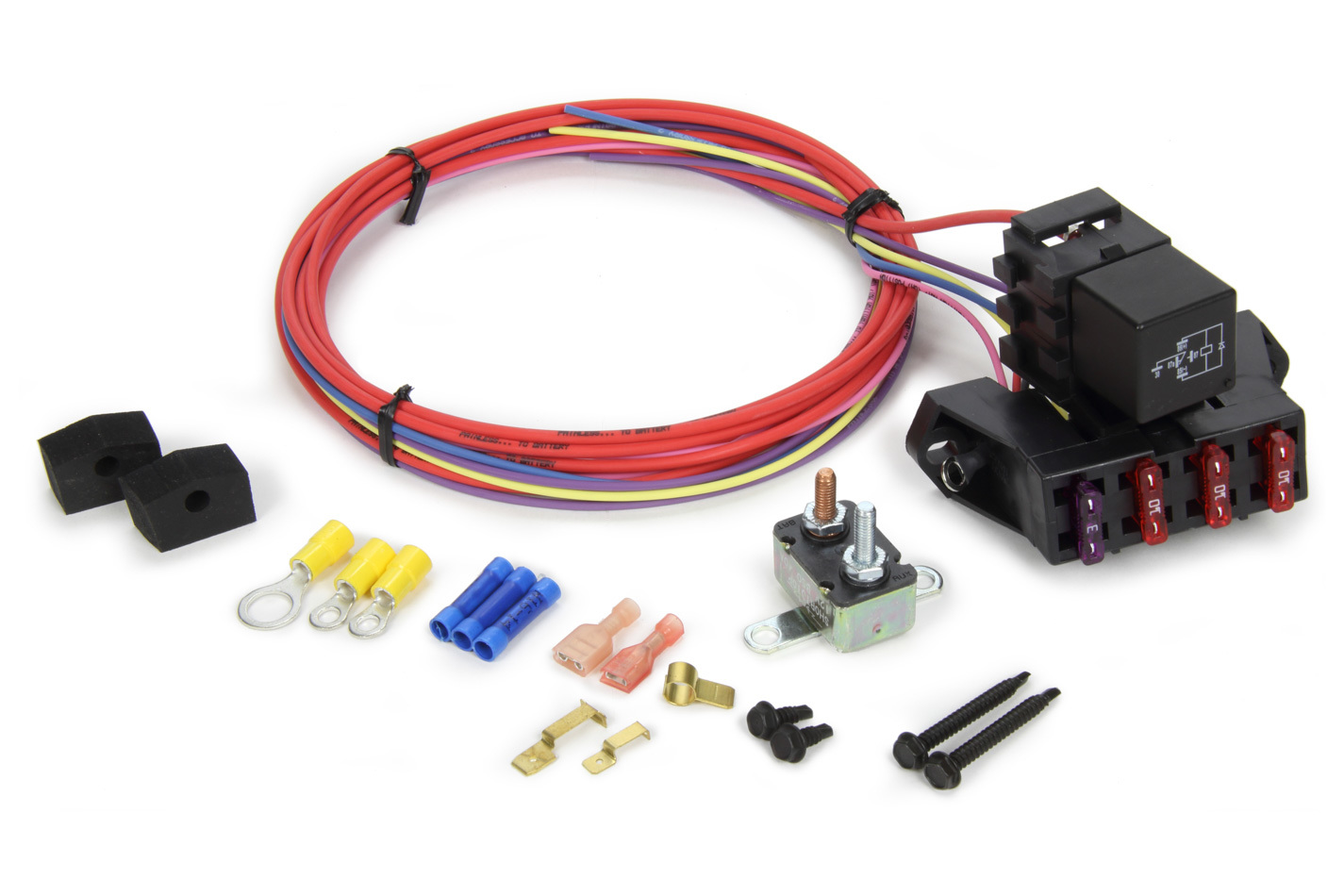 Painless Wiring 70113 Fuse Block, Auxiliary, 3 Circuit, Harness / Relay, Universal, Each
