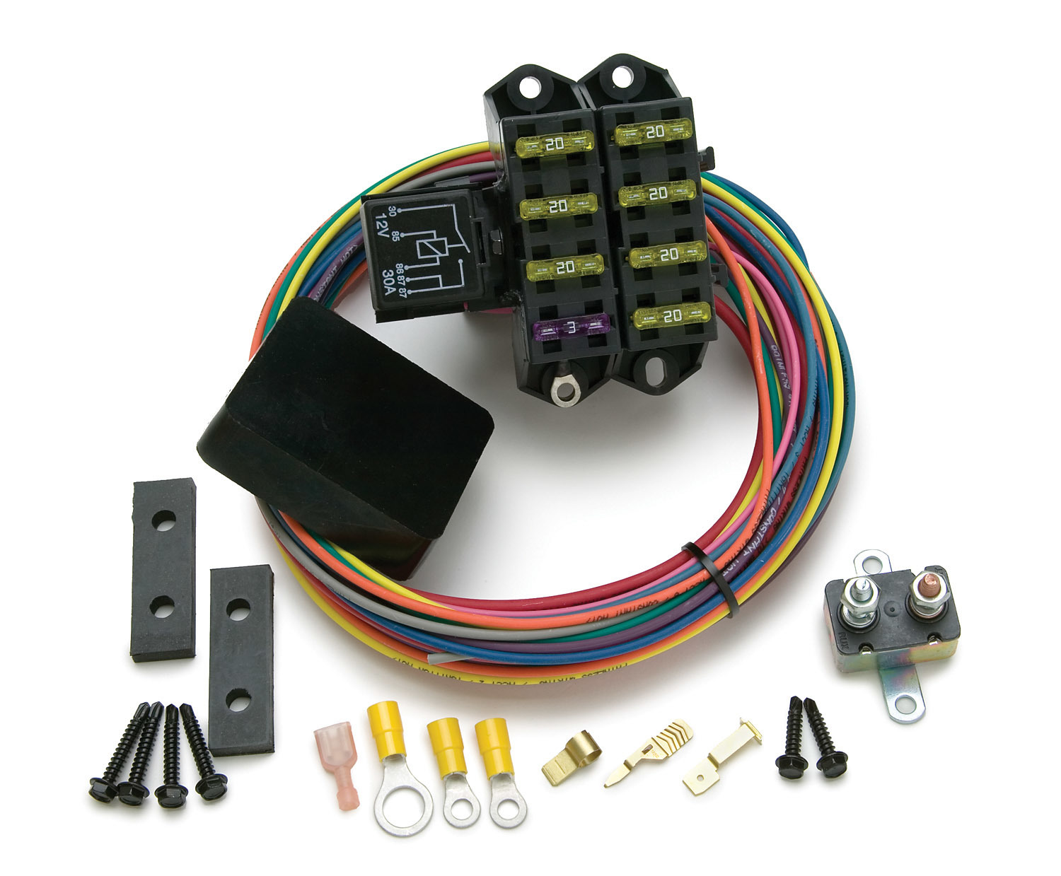 Painless Wiring 70207 Fuse Block, Weather Resistant Auxiliary, 7 Circuit, Harness / Relay, Universal, Each