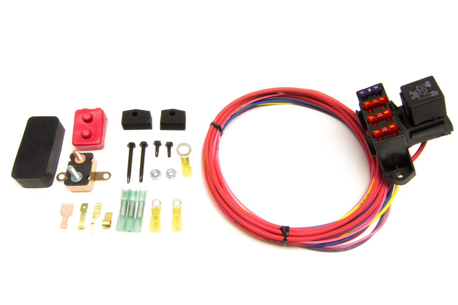 Painless Wiring 70213 Fuse Block, Auxiliary, 3 Circuit, Weather Resistant, Harness / Relay, Universal, Each