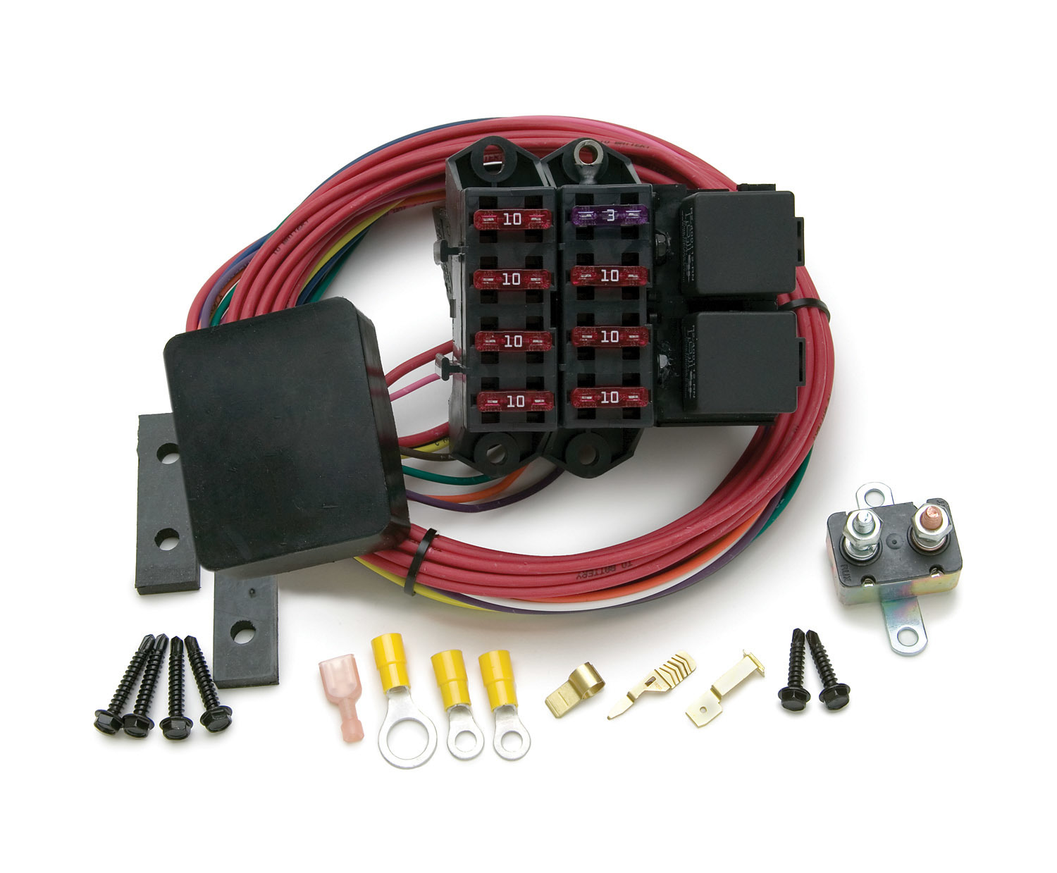 Painless Wiring 70217 Fuse Block, Auxiliary, 7 Circuit, Weather Resistant, Harness / Relay, Universal, Each