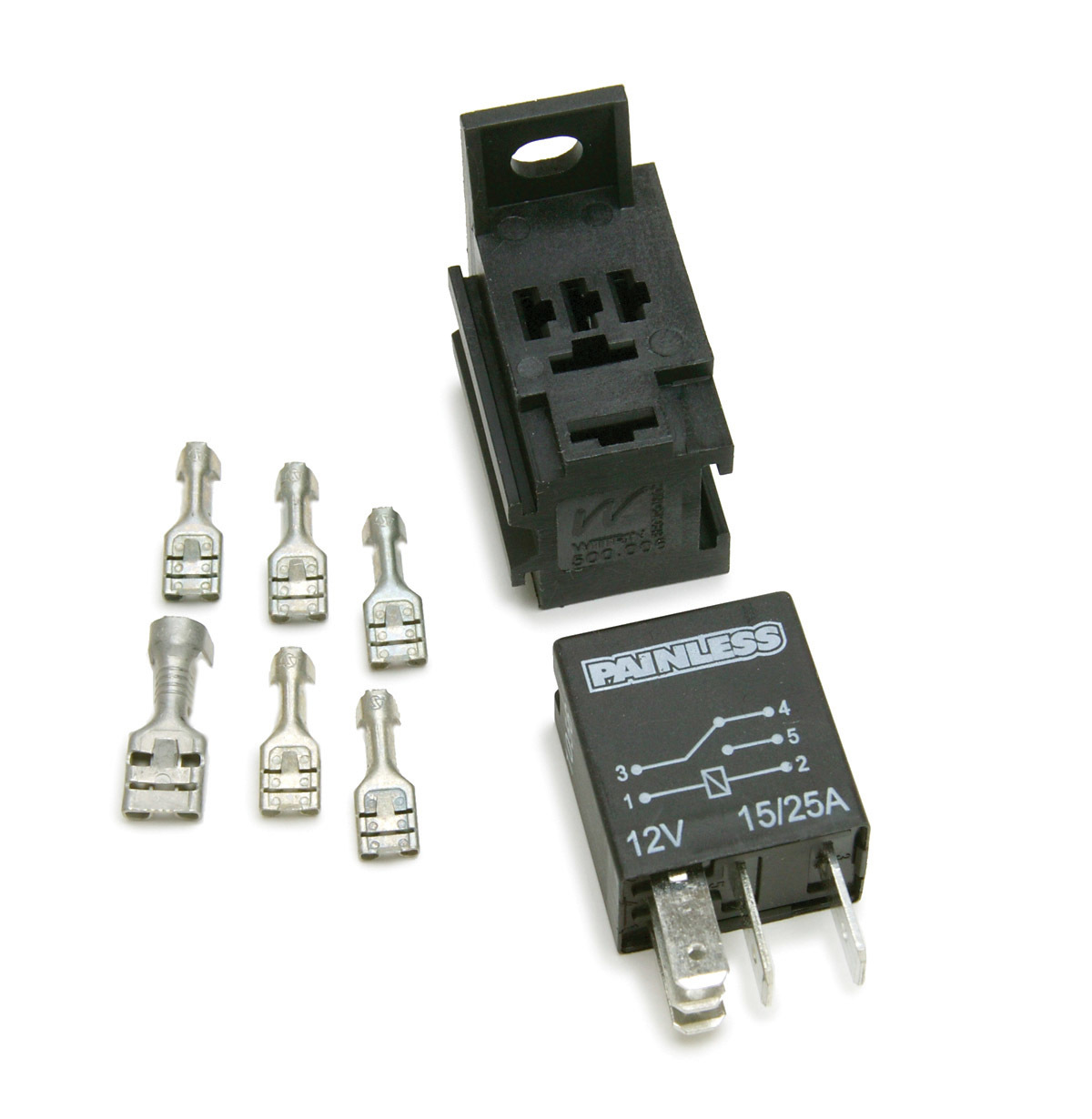 Painless Wiring 80136 Relay Switch, Single Pole, Double Throw, 15 / 25 amp, 12V, Universal, Kit