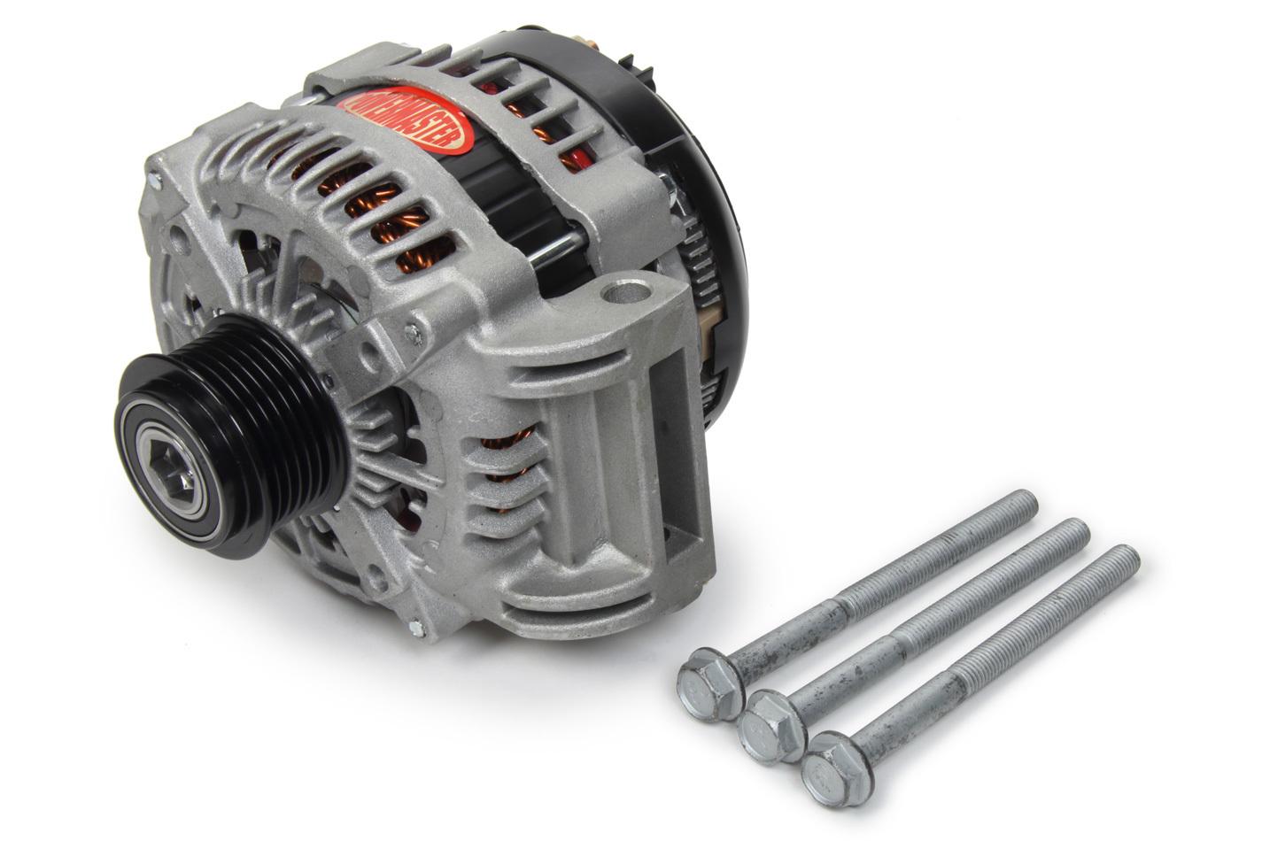 Powermaster 41576 Alternator, 245 amp, 12V, OEM 2-Pin, 6 Rib Serpentine Pulley, Natural, Denso Style, Mopar Gen III Hemi, Mopar LC-Body / LD-Body 2011-15, Each