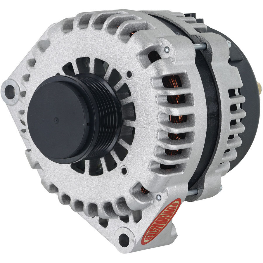 Powermaster 48969 Alternator, 220 amp, 12V, 1-Wire, 6 Rib Serpentine Pulley, Natural, Chevy Corvette 1997-2013, Each