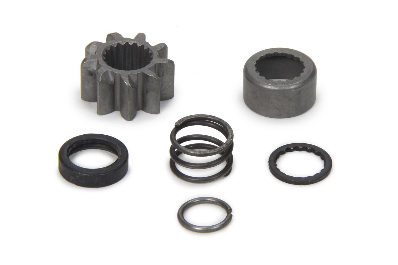 Powermaster 605 Starter Pinion Gear Kit, Cap / Clip / Pinion / Return Spring, 9 Tooth Starter, Kit