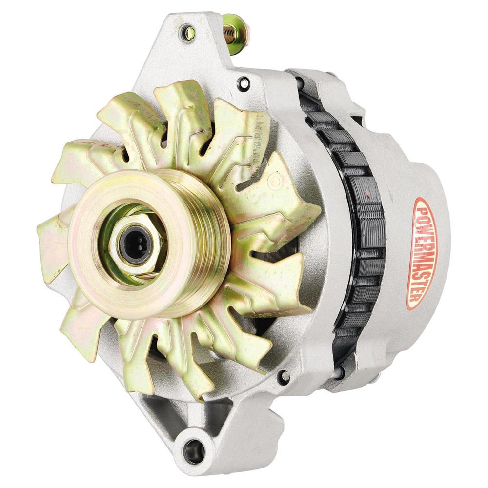 Powermaster 7802-111 Alternator, 105 amp, 12V, One Wire, Internal Regulator, Single V-Belt Pulley, Natural, GM, Each