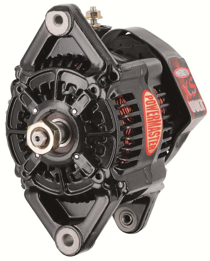 Powermaster 8128 Alternator, XS Volt, 115 amp, 12-16V, 1-Wire, Saddle Mount, Black, Denso Style, Each