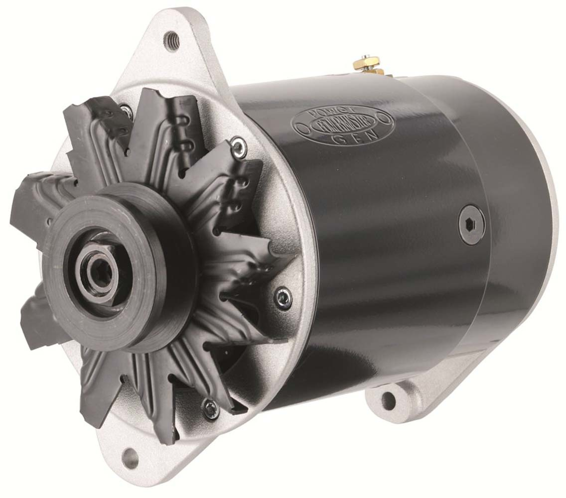 Powermaster 82111 Alternator, PowerGEN, 90 amp, 12V, 1-Wire, Single Belt Pulley, Black Powder Coat, Each
