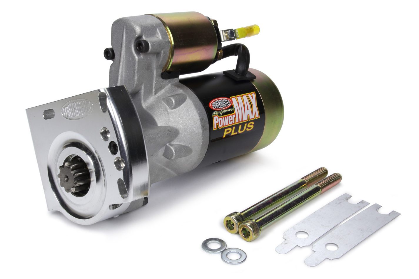 Powermaster 9004-9 Starter, PowerMAX Plus, 3.7:1 Gear Reduction, Black Paint, 168 Tooth Flywheel, GM LS-Series, Each
