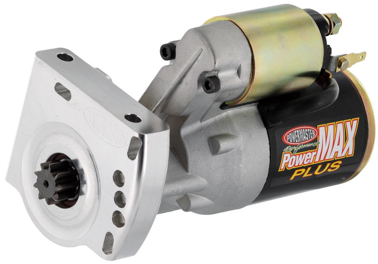 Powermaster 9009 Starter, PowerMAX Plus, 3.7:1 Gear Reduction, Black Paint, 168 Tooth Flywheel, Hitachi-Style, GM LS-Series, Each