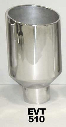 Exhaust Tip 5in x 10in 18in Rolled Pol. Weld-on