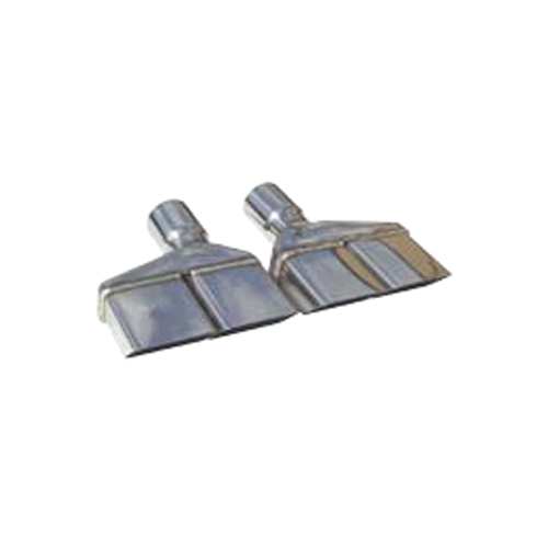 Exhaust Tips Slip Fit 3in Dual Rectangle Slant