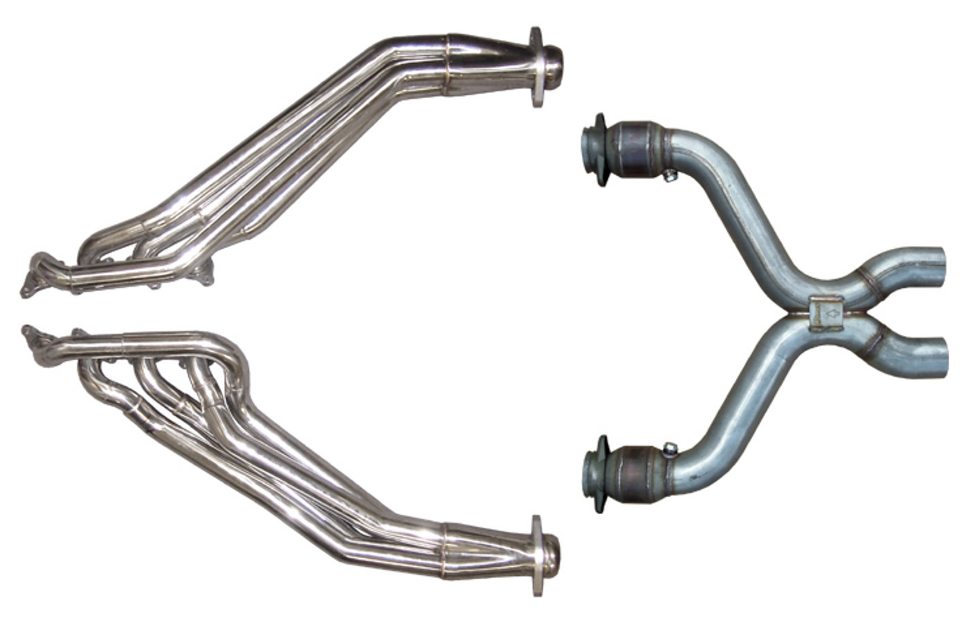 11- Mustang 5.0L Headers W/Catted X-Pipe