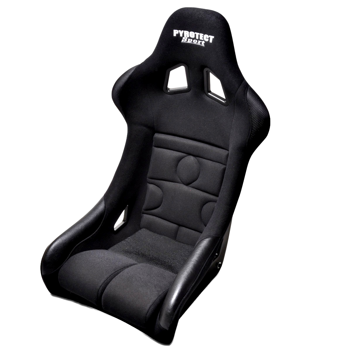Pyrotect SEA-1000-B Seat, Sport Race, Side Bolsters, Harness Openings, Fiberglass Composite, Fabric, Black, Each