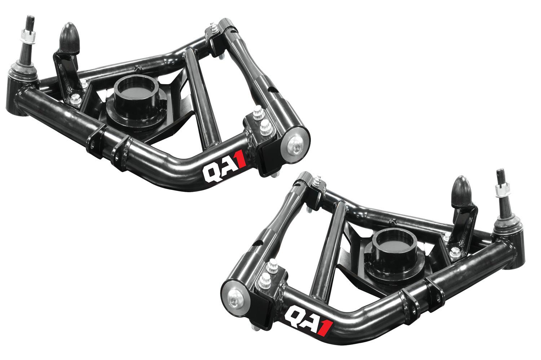QA1 52601 Control Arm, Tubular, Lower, Polyurethane Bushings, Steel, Black Powder Coat, C10, GM Fullsize Truck, Pair