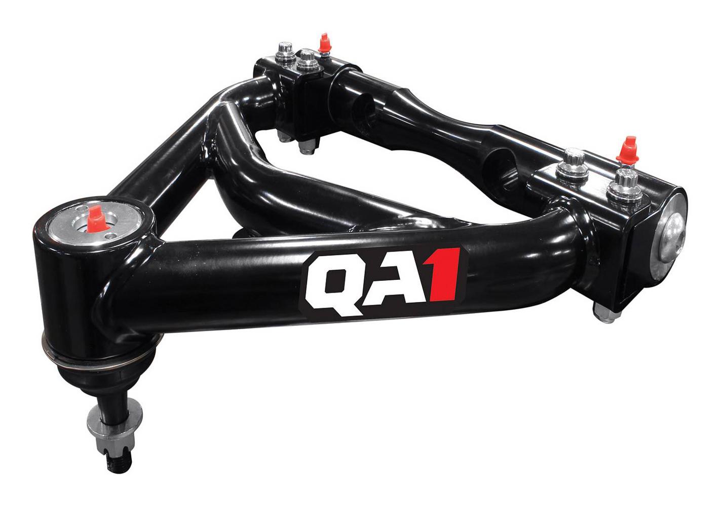 QA1 52602 Control Arm, Tubular, Upper, Polyurethane Bushings, Steel, Black Powder Coat, C10, GM Fullsize Truck, Pair
