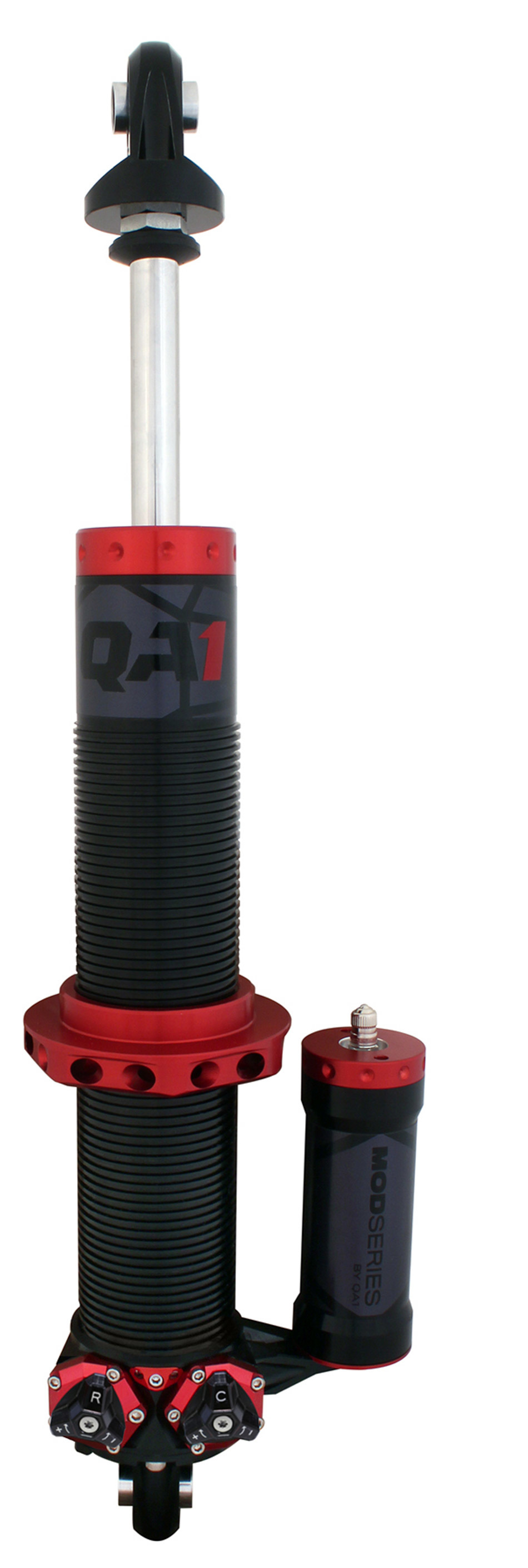 QA1 M611PR Shock, Mod Series, Twintube, 12.50 in Compressed / 18.75 in Extended, 2.00 in OD, Double Adjustable, Aluminum, Black Anodize, Each