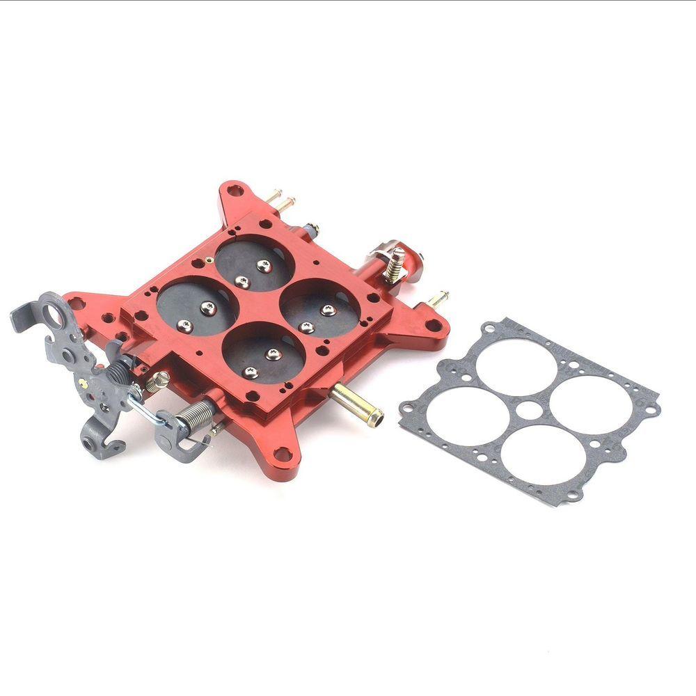 Quick Fuel 12-850 Carburetor Base Plate, Complete, Aluminum, Red Anodized, Holley 4150 / Quick Fuel Carburetor, Each