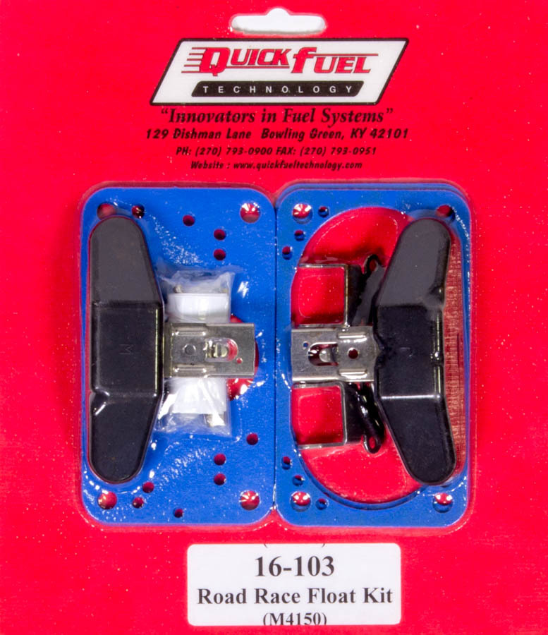 Quick Fuel 16-103 Carburetor Float, Road Race, Center Hung, Gaskets, Nitrophyl, Holley / Quick Fuel Carburetors, Kit