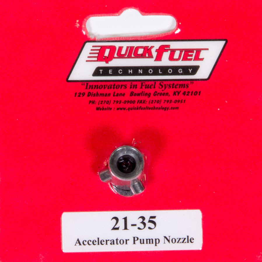 Quick Fuel 21-35 Accelerator Pump Discharge Nozzle, 0.035 in ID, Straight Type, Holley / Quick Fuel Carburetors, Each