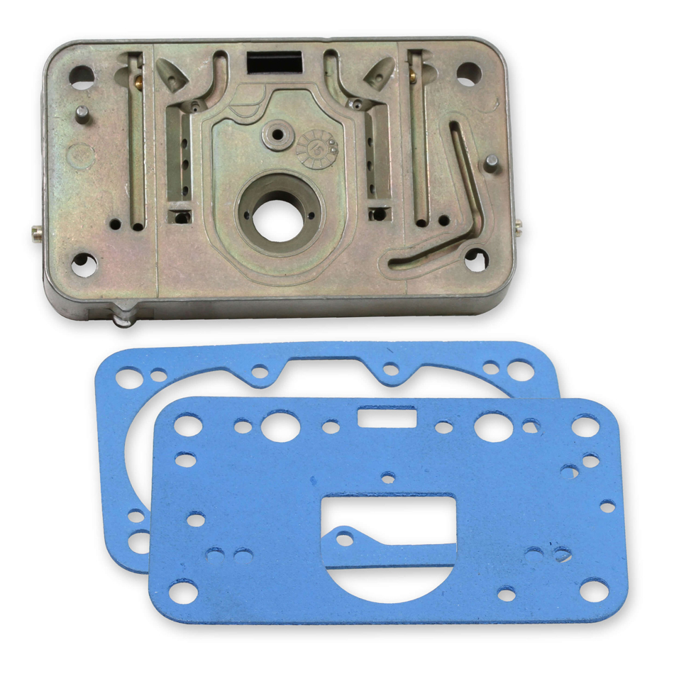 Quick Fuel 34-12 Metering Block, Aluminum, Chromate, Primary, Gaskets Included, Holley 4412 Carburetors, Each