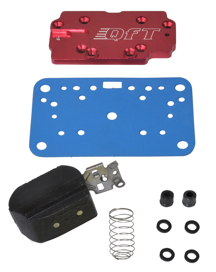 Quick Fuel 34-2 Metering Plate, Conversion to Main Jets, Gasket / Float Included, Aluminum, Red Anodized, Holley Side Pivot 4160 Carburetors, Kit