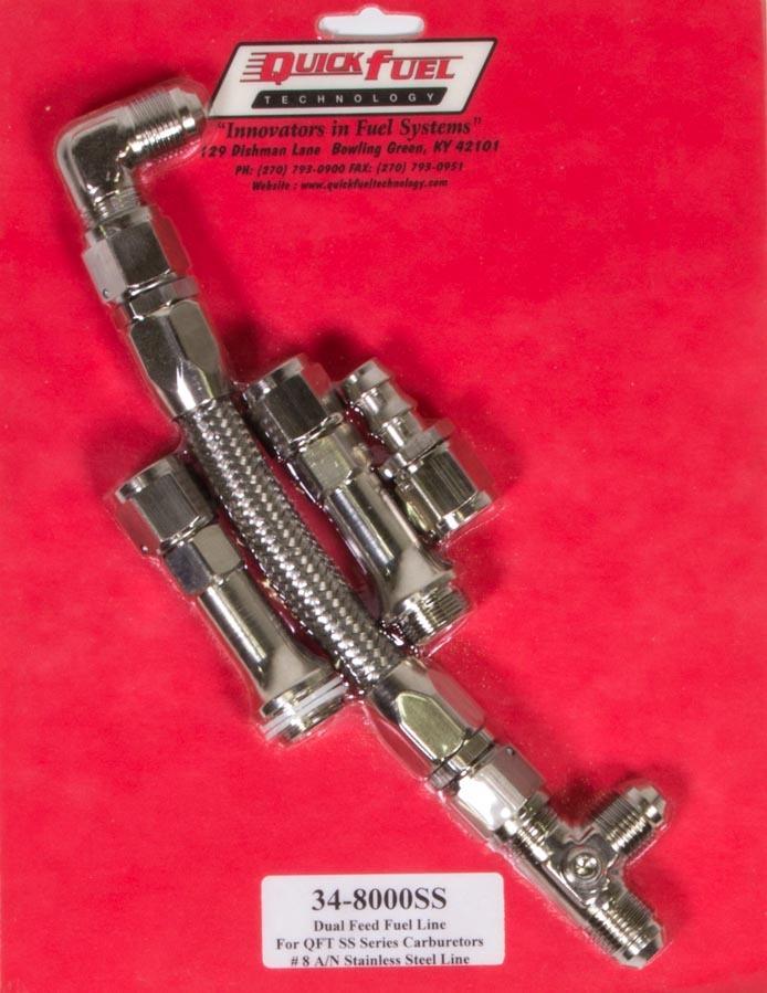 FRAGOLA Black//Silver Holley 4150 Carburetor Fuel Line P//N 920022-BL