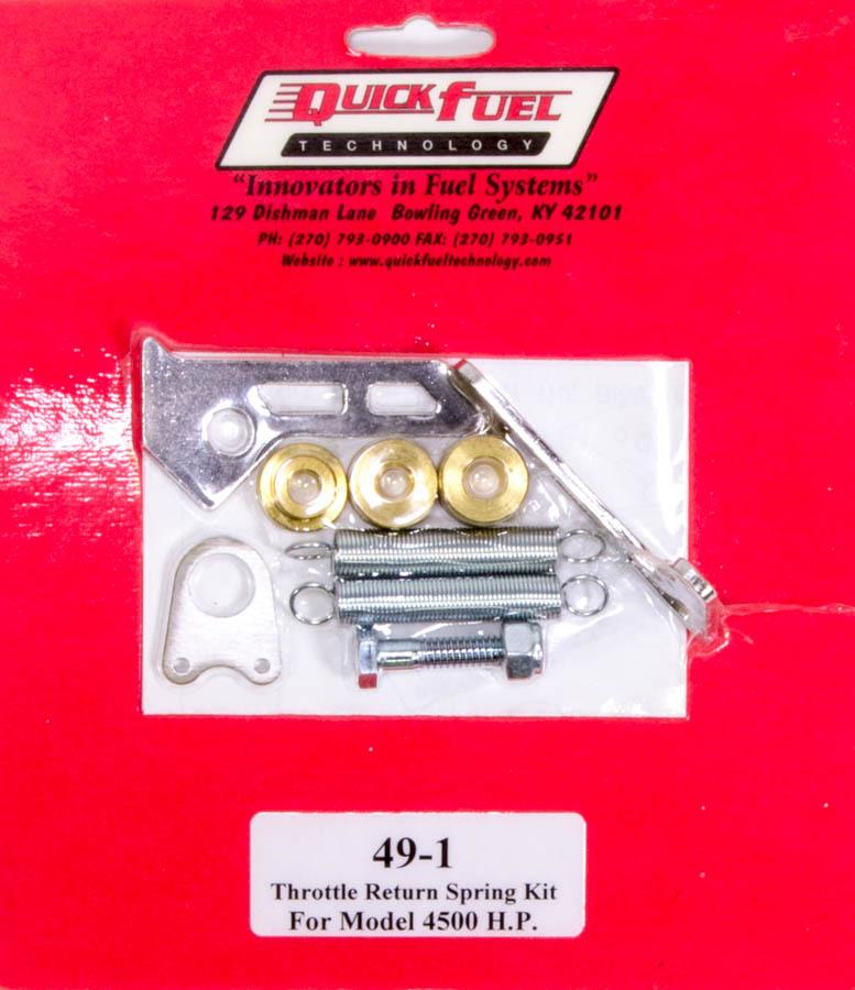 Quick Fuel 49-1 Throttle Return Spring Kit, Carb Mount, Dual Springs, Steel, Zinc Oxide, Holley 4500 / Quick Fuel Carburetor, Kit