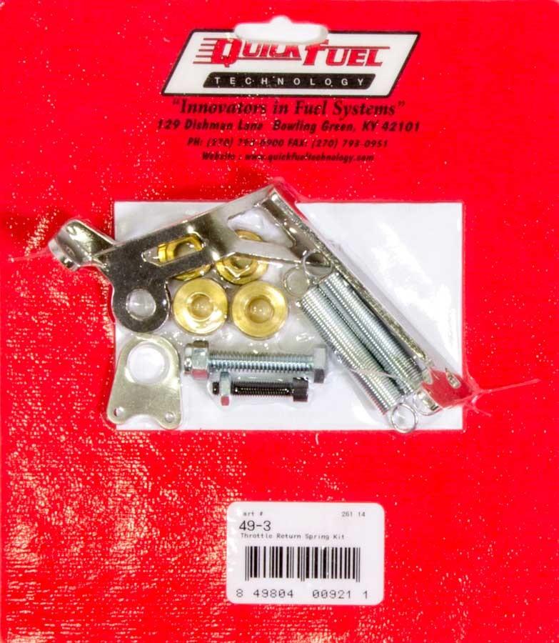 Quick Fuel 49-3 Throttle Return Spring Kit, Carb Mount, Dual Springs, Steel, Zinc Oxide, Holley 4150 / Quick Fuel Carburetor, Kit