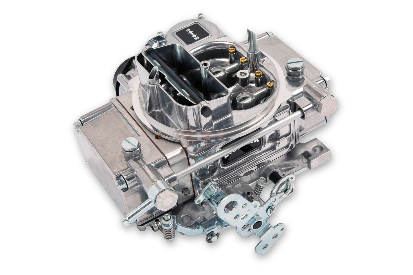 Quick Fuel BR-67270 Carburetor, Brawler Street, 4-Barrel, 600 CFM, Square Bore, Electric Choke, Vacuum Secondary, Single Inlet, Polished, Each