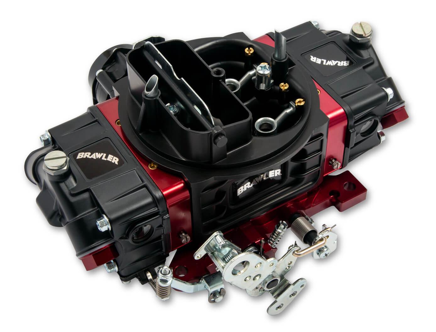 Quick Fuel Technology BR-67320 Carburetor, Brawler Street, 4-Barrel, 750 CFM, Square Bore, Electric Choke, Mechanical Secondary, Dual Inlet, Black Anodized, Each